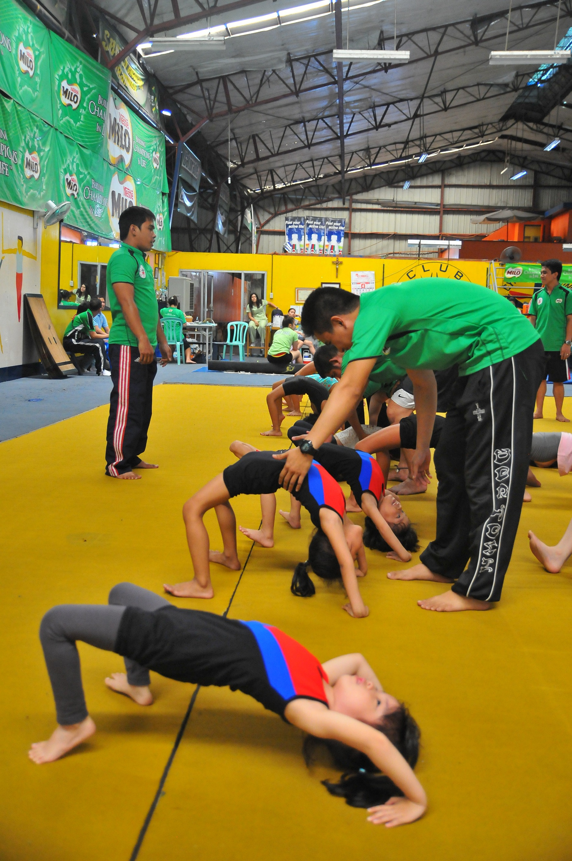 MILO Summer Sports Clinics gymnastics RFM